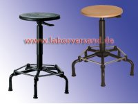 Lab stool with all-round footrest