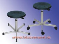 Lab stool, stainless steel