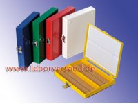 Objektträgerbox, Typ 100 (Kork) Farbsortiment