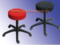 Swivel stool, padded (plastic base)
