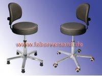 Sviwel stool with backrest