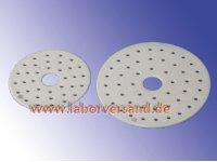 Desiccator plates made of porcelain
