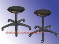 Lab stool with PU seat, ring release