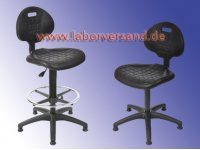 Lab chair with glider