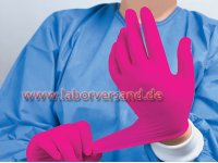 Nitrile gloves powderfree, pink » NPA7