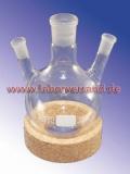 Round-bottomed flasks, three-necked