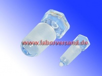 Hollow glass stoppers for ground glass joints (NS)