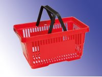 Shopping basket with handles